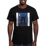 FIN-scaredy-cat Men's Fitted T-Shirt (dark)