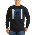 FIN-scaredy-cat Long Sleeve Dark T-Shirt