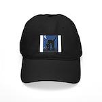 FIN-scaredy-cat Black Cap with Patch