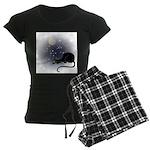 FIN-cat-moon-stars-1 Women's Dark Pajamas