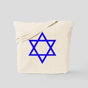 Blue Star of David Tote Bag
