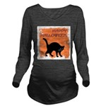 happy-halloween Long Sleeve Maternity T-Shirt