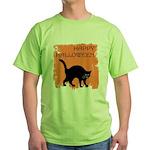 happy-halloween Green T-Shirt