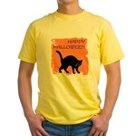 happy-halloween Yellow T-Shirt