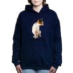 FIN-calico-cat-good Women's Hooded Sweatshirt