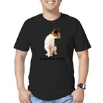 FIN-calico-cat-good Men's Fitted T-Shirt (dark)