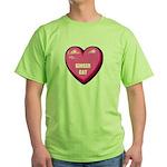ginger-cat-FIN Green T-Shirt