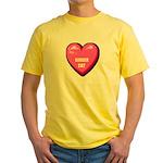 ginger-cat-FIN Yellow T-Shirt