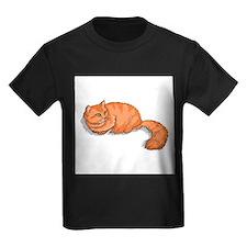 tabby-ginger-FIN Kids Dark T-Shirt