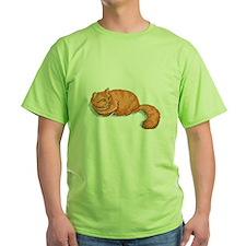 tabby-ginger-FIN Green T-Shirt
