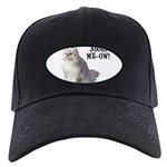 FIN-persian-cat-photo-meow Black Cap with Patch