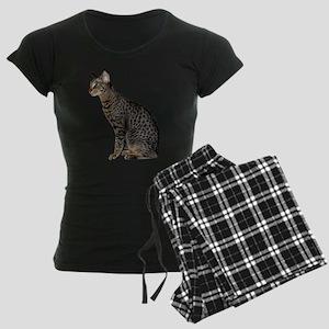 Savannah Cat Women's Dark Pajamas