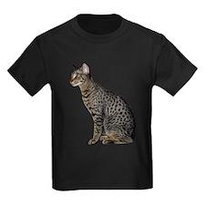 Savannah Cat Kids Dark T-Shirt