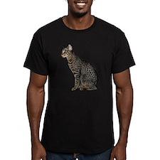Savannah Cat Men's Fitted T-Shirt (dark)