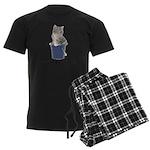 Tabby Cat Men's Dark Pajamas