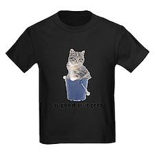 Tabby Cat Kids Dark T-Shirt
