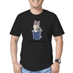 Tabby Cat Men's Fitted T-Shirt (dark)