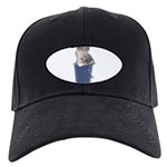 Tabby Cat Black Cap with Patch