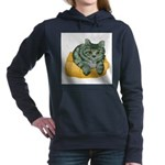 tabby-cat-1-FIN Women's Hooded Sweatshirt