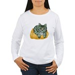 tabby-cat-1-FIN Women's Long Sleeve T-Shirt