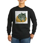 tabby-cat-1-FIN Long Sleeve Dark T-Shirt