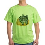 tabby-cat-1-FIN Green T-Shirt