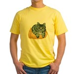 tabby-cat-1-FIN Yellow T-Shirt