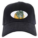tabby-cat-1-FIN Black Cap with Patch