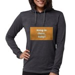 FIN-hang-in-there-10x10.png Womens Hooded Shirt