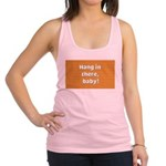 FIN-hang-in-there-10x10.png Racerback Tank Top