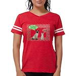 Christmas Cat Gifts Womens Football Shirt
