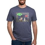 Christmas Cat Gifts Mens Tri-blend T-Shirt