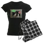 Christmas Cat Gifts Women's Dark Pajamas