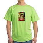 Christmas Cat Gifts Green T-Shirt