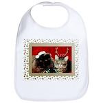 Christmas Cat Gifts Cotton Baby Bib