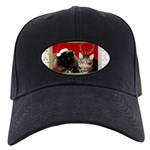 Christmas Cat Gifts Black Cap with Patch