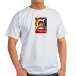 Christmas Cat Gifts Light T-Shirt