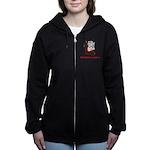 FIN-hang-in-there-xmax-10x10 Women's Zip Hoodie