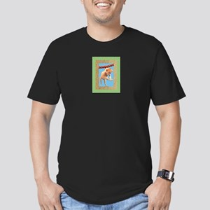 FIN-hang-in-there-baby-greeting Men's Fitted T-Shi