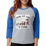 Crazy Cat Lady Trainee Womens Baseball Tee