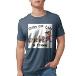 Crazy Cat Lady Trainee Mens Tri-blend T-Shirt