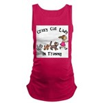 Crazy Cat Lady Trainee Maternity Tank Top