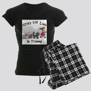 Crazy Cat Lady Trainee Women's Dark Pajamas