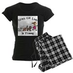 Crazy Cat Lady Trainee Women's Dark Pajamas