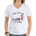 Crazy Cat Lady Trainee Women's V-Neck T-Shirt