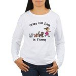 Crazy Cat Lady Trainee Women's Long Sleeve T-Shirt