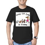 Crazy Cat Lady Trainee Men's Fitted T-Shirt (dark)
