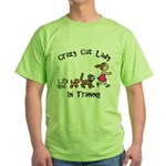 Crazy Cat Lady Trainee Green T-Shirt