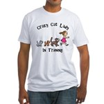 Crazy Cat Lady Trainee Fitted T-Shirt