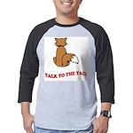 cat-talk-to-the-tail Mens Baseball Tee